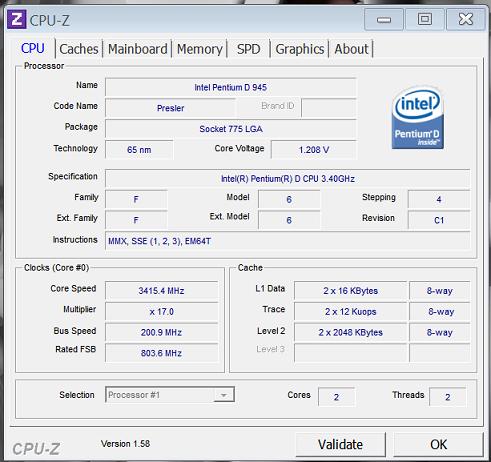 cpuz processor