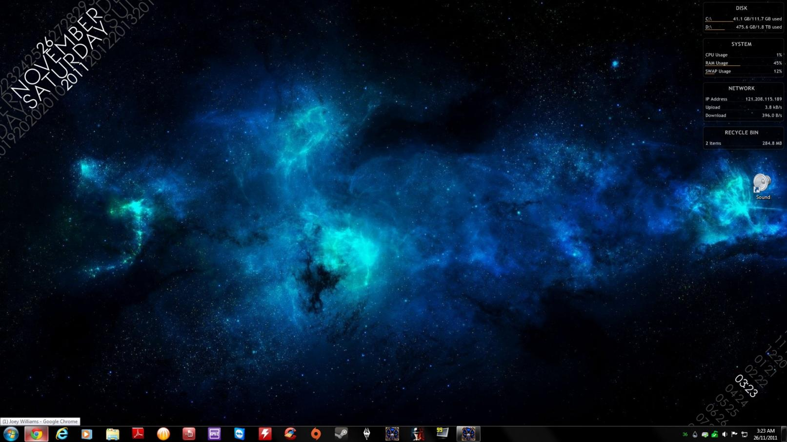 My Desktop xD /w Rainmeter :D