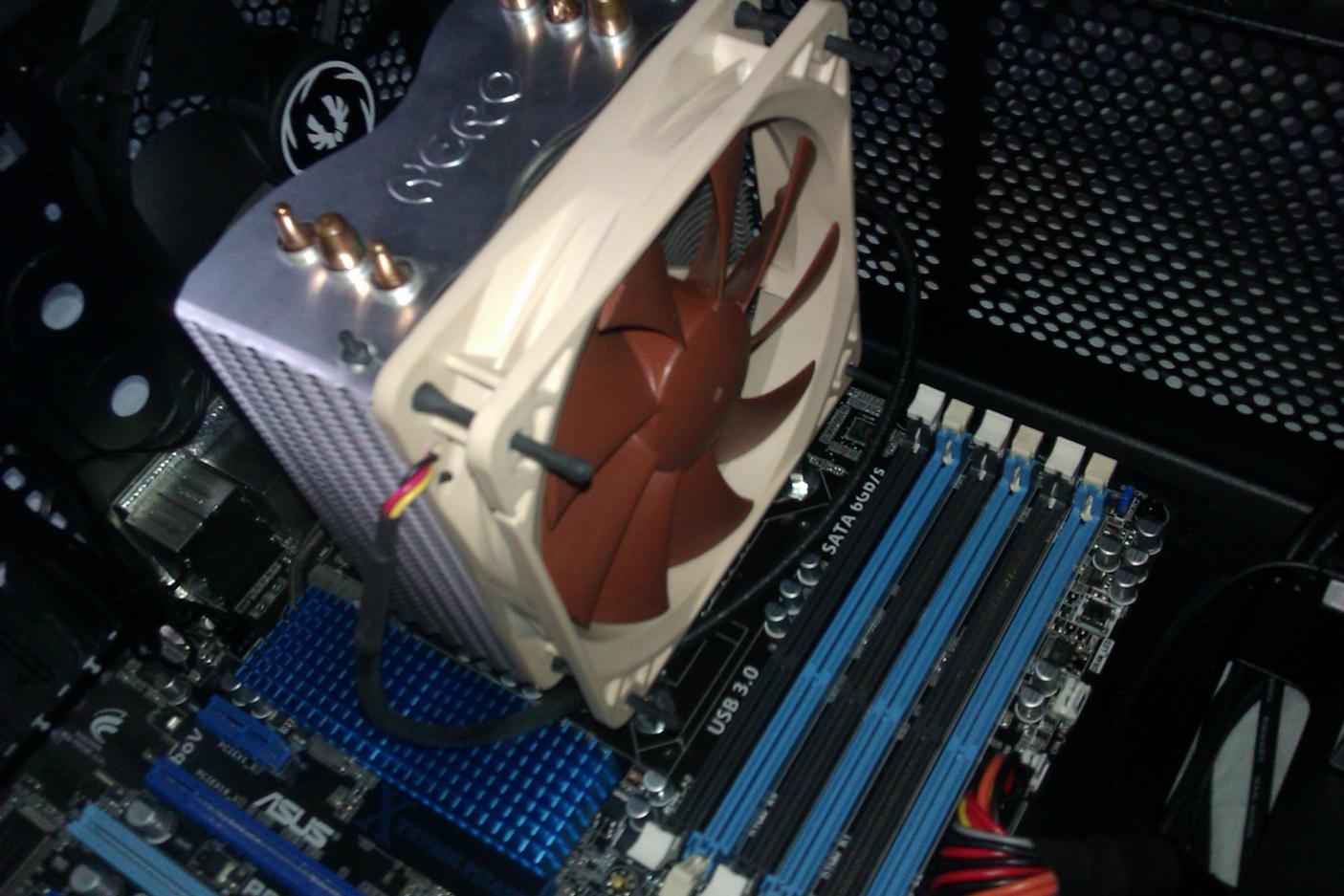 Akasa nero heatsink using noctua fan
