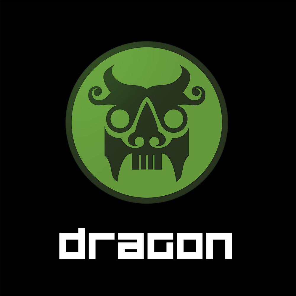 Dragon logo and text